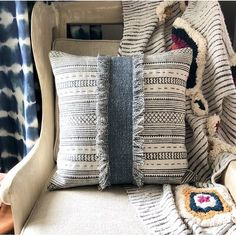 Union Rustic This Kuhl Decorative Cotton Throw Pillow makes it easy for you to refresh any room with updated patterns and color schemes. Diy Pillows, Decorative Throw Pillows, Sofa Pillows, Old Sweater Crafts, Drop Cloth Projects, Memory Pillows, Quilted Ornaments, Cushion Pads, Cushion Covers