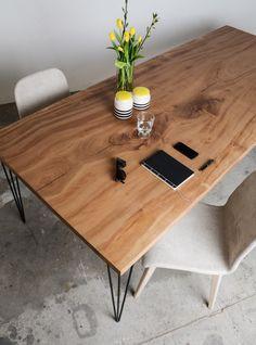 Edelholz Designtisch Platane von SUNWOOD Design Tisch, Wood Design, Office Desk, Modern, Dining Table, Furniture, Home Decor, Ceiling Trim, Wall Panelling