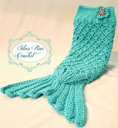 N-, check this out! (for someday...not now  :)  Baby Mermaid Tail Cocoon  Handmade by SilasRaeCrochet