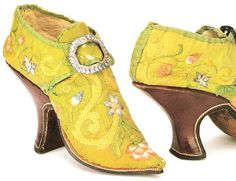 The yellow mules are from Italy and were made in the 18th century