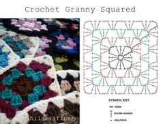 by hf Crochet Granny Squared - Chart ❥ 4U //