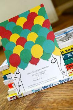 balloon birthday invite