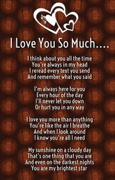 I Love You So Much Poems for Him and Her with Images