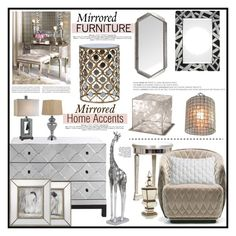 """""""Mirrored Furniture with Home Accents..."""" by angiesprad ❤ liked on Polyvore featuring interior, interiors, interior design, home, home decor, interior decorating, Universal Lighting and Decor, John-Richard, MOROSO and CB2"""