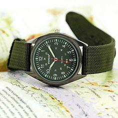 lightinthebox.com Men's Watch Military Water Resistant Fabric Strap – USD $ 4.99