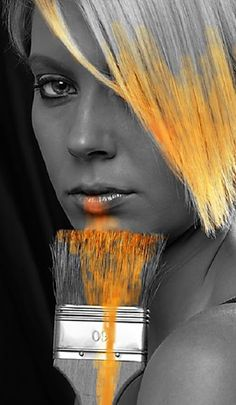 Beautiful colorful pictures and Gifs: Color Naranja (Orange) Touch of Colour. Black And White Pictures, Black And White Colour, Orange Color, Color Pop, Orange Yellow, Splash Photography, Color Photography, Black And White Photography, Colourful Photography