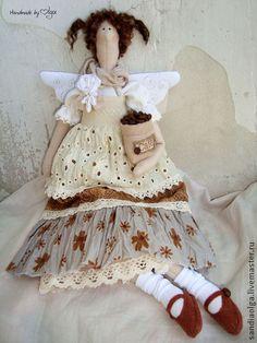 Куклы Тильды ручной работы. Ярмарка Мастеров - ручная работа Кофейная фея в стиле бохо 2. Handmade.