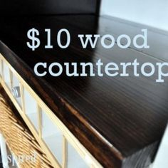 $10 Wood Countertop. Great over the washer and dryer
