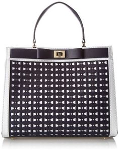 kate spade new york Mayfair Drive Perforated Tullie Top Handle Bag True Navy �