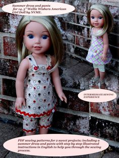 Doll Clothes PDF Pattern for 14.5'' Wellie Wishers