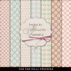 Far Far Hill - Free database of digital illustrations and papers: New Freebies Kit of Backgrounds - Pâtisserie Franç...
