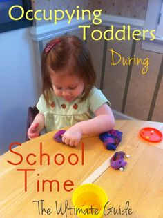 Occupying Toddler During School Time (or dinner making time!)