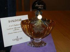 VINTAGE Shalimar Guerlain Baccarat Crystal Parfum 1 Oz / 30 Ml  #Guerlain
