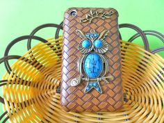 Fashion hard Case Cover With Bronze Cute Owl by braceletbanglecase, $10.99