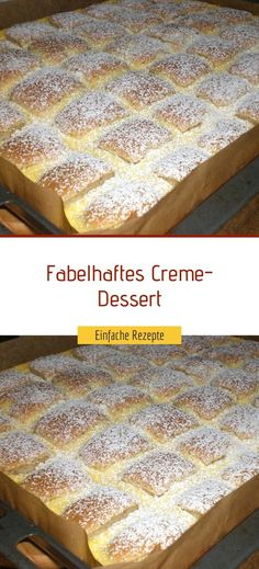 Creme Dessert, Food And Drink, Vegetarian, Sweets, Blond, Cool Desserts, Sheet Cakes, Gummi Candy, Candy