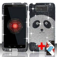 Motorola Droid Ultra XT1080 / Maxx (Verizon) 2 Piece Snap On Rhinestone/Diamond/Bling Case Cover, Silver/Black Cute Cartoon Panda Bear  http://www.amazon.com/dp/B00GLEDVR8/ref=cm_sw_r_pi_dp_k8m2sb0AYSGM1SQW