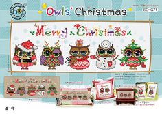 Owl Christmas  Cross stitch pattern book. Big by SODAstitchUJT