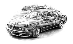 A4 paper, pencil, about 8 hours work. Beautiful and very stylish BMW which definitely can be called a classic car. I love this car and I'm pretty happy with outcome.