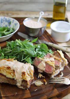 Reuben Strip Steak by Runningtothekitchen, via Flickr