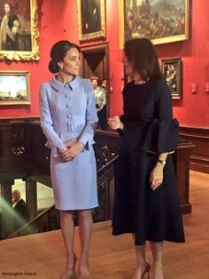 hrhduchesskate:  Visit to the Netherlands, October 11, 2016-The Duchess of Cambridge was invited to the Mauritshuis in The Hague for the exhibition 'At Home In Holland:  Vermeer and His Contemporaries from the British Royal Collection', with art loaned by Queen Elizabeth