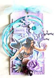 Kaisercraft Mermaid Tails Tag by Alicia McNamara