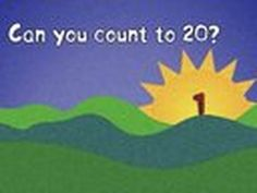 """Can you count to 20? """"Count And Move"""" can help you practice. Great for preschoolers, ESL/EFL or at home."""