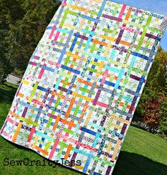 Simply Woven Quilt « modafabrics Strip Quilt Patterns, Jelly Roll Patterns, Quilting Patterns, Quilting Ideas, Fun Patterns, Quilting Tutorials, Quilting Projects, Quilting Designs, Sewing Projects