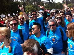 Team Klout getting psyched for @aidswalksf #KloutForGood -- via Lynn Fox