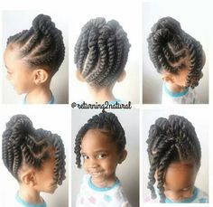Adorbs twist up. Have to try this on my daughter's hair. She has been asking for something like this with a bang.