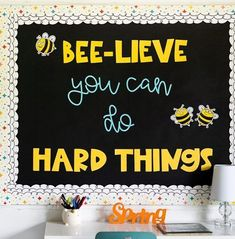 We bee-lieve this bulletin board is awesome! We bee-lieve this bulletin board is awesome! September Bulletin Boards, Elementary Bulletin Boards, Kindergarten Bulletin Boards, Summer Bulletin Boards, Bulletin Board Design, Reading Bulletin Boards, Back To School Bulletin Boards, Classroom Bulletin Boards, Classroom Decor