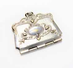 Antique Silver Coloured Tiny Purse Shaped Stamp Holder Pendant/Charm (c1900s) - no chain by GillardAndMay on Etsy