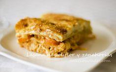 deliciosidades - Lasaña de coliflor y zanahorias