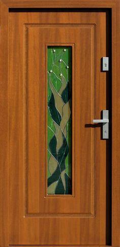 Drewniane wejściowe drzwi zewnętrzne do domu z katalogu modeli klasycznych wzór 572s2+ds2