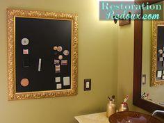 Hometalk :: Magnetic Makeup Board
