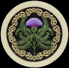 by Kevin Dyer ... Just love his art! Scottish Thistle  The Official Emblem of Scotland  http://castpaper.com/index.php?main_page=product_info=10_id=12  Legend has it, that in the 9th century, when the Norse were often raiding Scotland, a group of vikings tried to sneak up on a group of sleeping Clansmen. They had removed their shoes to creep quietly but stepped on thistles and cried out in pain. The alerted Scots made them pay.