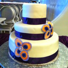 The cake I made for my friend's wedding today