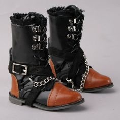 [wamami] 1/3 Black & Brown Synthetic Leather Boots/Shoes For SD DZ BJD Dollfie