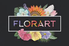 FlorArt Watercolor Kit by Creative Veila on @creativemarket