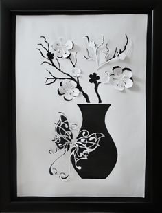 Vase with Butterfly by Luyomi333.deviantart.com on @deviantART