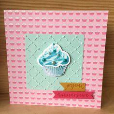 Carte de vœux pour un anniversaire cupcake : Cartes par sabandpaper