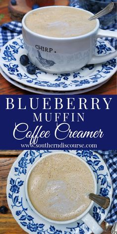 This simple recipe for homemade coffee creamer will have your cozy morning brew tasting like a steaming cup of joe with a side of freshly baked blueberry muffin! Coffee Recipes, Drink Recipes, Recipes Dinner, Dinner Ideas, Breakfast Recipes, Homemade Coffee Creamer, Make Your Own Coffee, Blueberry Syrup, Organic Blueberries