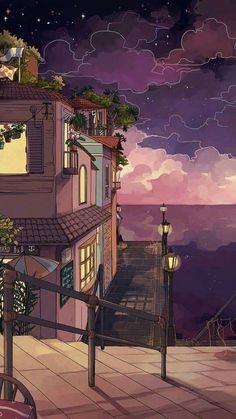 Anime Art Aesthetic – Art World 20 Anime Scenery Wallpaper, Aesthetic Pastel Wallpaper, Aesthetic Backgrounds, Aesthetic Wallpapers, Kawaii Wallpaper, Cartoon Wallpaper, Wallpaper Wallpapers, City Art, Aesthetic Anime