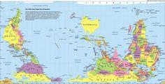 """""""Ni está del revés, ni está mal dibujado.Así son los #mapamundis #Australia #Facts"""