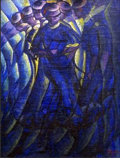 """Plastic Synthesis of the Actions of a Woman, 1911. Luigi Russolo (1883 – 1947) was an Italian Futurist painter and composer, and the author of the manifesto """"The Art of Noises"""" (1913). He is often regarded as one of the first noise music experimental composers with his performances of noise music concerts in 1913–14 and then again after World War I, notably in Paris in 1921."""