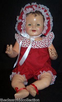 """1920s Effanbee Lovums Heartbeat Baby Composition Doll 18"""" UNUSUAL!"""