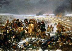 """Napoléon à la bataille d'Eylau Antoine-Jean Gros en 1808 Ce tableau inspira l'oeuvre de Fragonard """"La bataille de Marignan"""""""