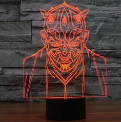 STAR WARS 3D 7-COLOR LED LAMP / 7 FIGURES