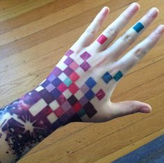 colorful squares tattoo by TERESA SHARPE