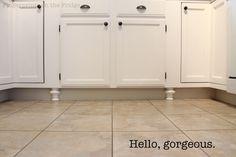 """Fingerprints on the Fridge: Love the little """"feet"""" under the cabinet!"""