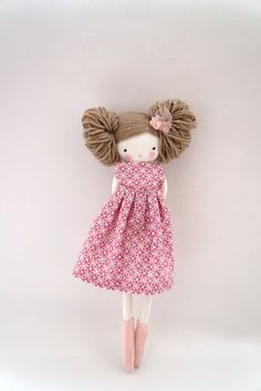 Handmade rag doll  Maria  ooak cloth art rag by lassandaliasdeana